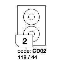 Samolepící etikety Rayfilm Office průměr 118/44 mm 100 archů R0100.CD02A