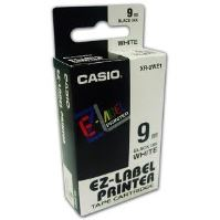 Páska Casio XR-9WE1 9mm černý tisk/bílý podklad