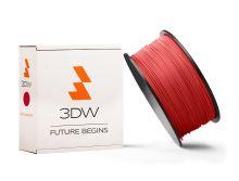 Tisková struna 3DW (filament) PLA, 1,75mm, 0,5kg, červená