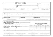 Cestovní příkaz s vyúčtováním A5 ET-230 / 50 listů jeden blok 2