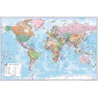 Psací podložka na stůl mapa Světa 60 x 40