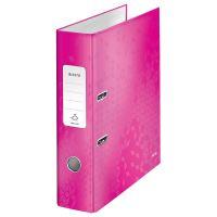 Pákový pořadač 180 Wow, růžová, lesklý, 80 mm, A4, PP/karton, LEITZ