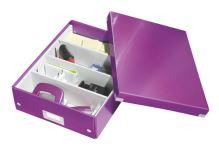 Archivační organizační box Leitz Click-N-Store M (A4), purpurový