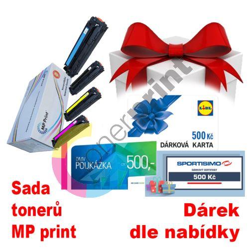 Sada tonerů HP CC530-3A, CMYK, MP print + dárek dle výběru 1