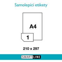 Samolepící čiré etikety Smart Line A4  210 x 297 mm 100 archů průhledné