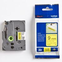 Páska Brother TZE-S621, 9mm, černý tisk/žlutý podklad, originál