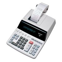 Kalkulačka Sharp EL2607PGGYSE, bílá, stolní s tiskem, dvanáctimístná
