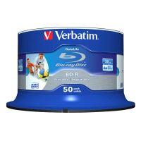 Verbatim 25GB BD-R SL, Hard Coat Wide Inkjet Printable, spindle, 43812, 6x, 50-pack