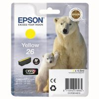 Cartridge Epson C13T26144012, yellow, 26, originál