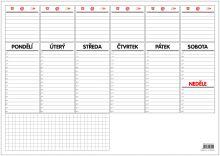 Stolní plánovač A3 - týdenní mapa - 30 listů