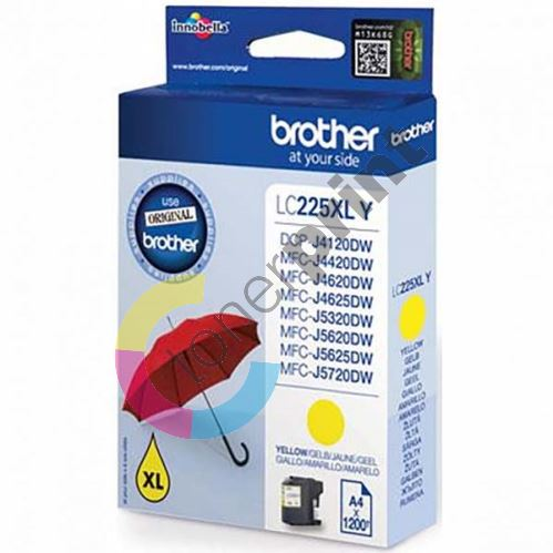 Cartridge Brother LC-225XLY, yellow, originál 1