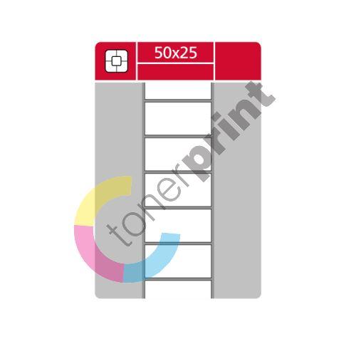TTR etikety na kotouči 50x25mm, 3000 etiket role 1