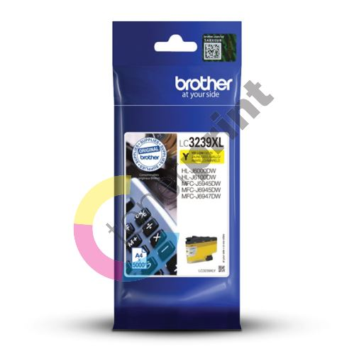Cartridge Brother LC3239XLY, yellow, originál 1