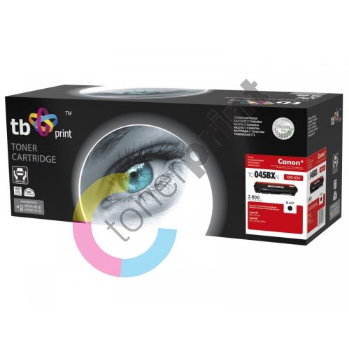 TB toner kompatibilní s Canon 045H, TC-045BXNK, Black, 2800, new 1