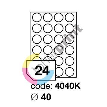 Samolepící etikety Rayfilm Office průměr 40 mm 100 archů R0100.4040KA 1