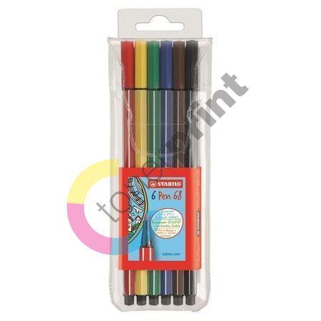 Fix Pen 68, sada, 6 barev, 1mm, STABILO 1