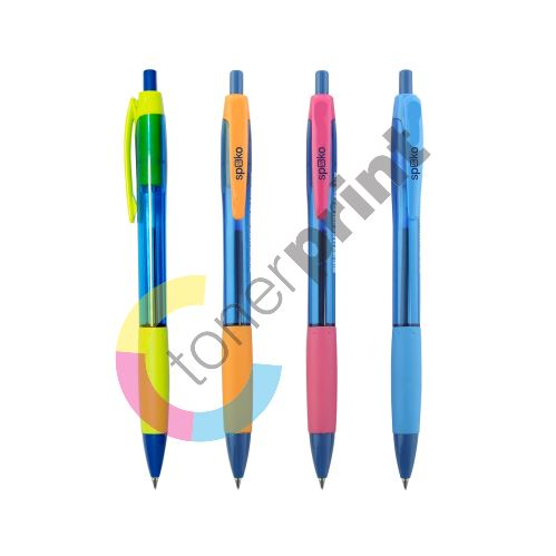 Spoko kuličkové pero Aqua, modrá náplň, mix barev 1