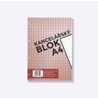Bobo kancelářský blok A4, 50 listů, 4 díry, linka