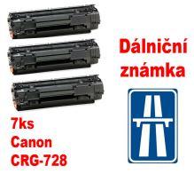 7ks kompatibilní toner Canon CRG-728, MP print + dálniční známka