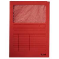 Odkládací desky Leitz s okénkem, červené