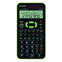 Kalkulačka Sharp EL520XGR, černo-zelená, vědecká