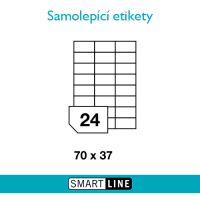 Samolepící bílé etikety Smart Line A4 70 x 37 mm 100 archů