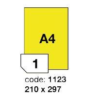 Samolepící etikety Rayfilm Office 210x297 mm 100 archů, fluo žlutá, R0131.1123A