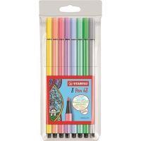Fixy Pen 68, sada, 1 mm, 8 pastelových barev, STABILO