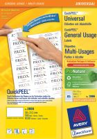 Univerzální etikety AVERY QuickPEEL 38x21,2 mm 100 listů A4 - 3666