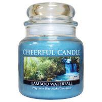 Cheerful Candle Vonná svíčka ve skle Tropický Vodopád - Bamboo Waterfall, 16oz