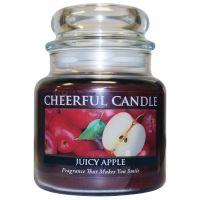Cheerful Candle Vonná svíčka ve skle Šťavnaté Jablko - Juicy Apple, 16oz