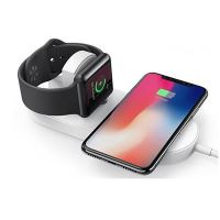 Bezdrátová nabíječka All New 2v1 pro telefon a Apple Watch, bílá, 5V, 10W, Qi
