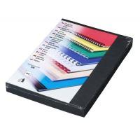Kartónové desky pro zadní strany Delta A4, 230 g, černá, 100 ks