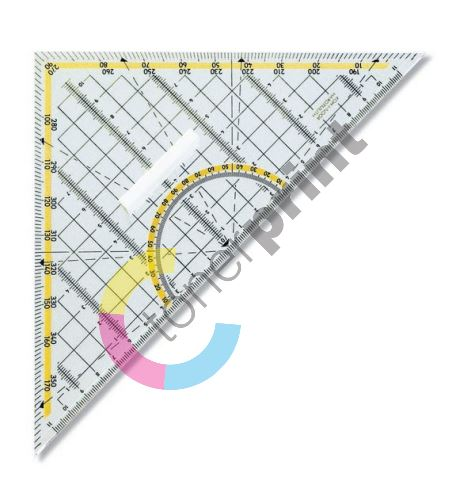 Trojúhelník 45/177 s držákem 703044, transparentní 1
