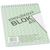 Bobo kroužkový blok A5, horní spirála 50 listů, čtvereček 4