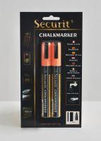 Střední křídový popisovač Securit, šířka hrotu 2-6 mm 2 kusy, oranžový