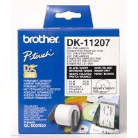 Etikety na CD Brother 58mm, bílá, filmová role, 100 ks, DK11207