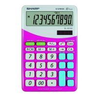 Kalkulačka Sharp ELM332BPK, růžovo-bílá, stolní, desetimístná