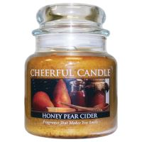Cheerful Candle Vonná svíčka ve skle Medovo-Hruškový Cider - Honey Pear Cider, 16oz