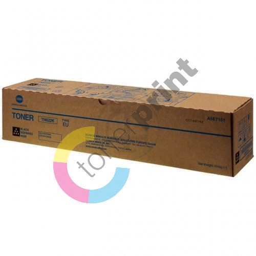 Toner Konica Minolta A5E7151, KM C6085, C6100, black, TN-622K, originál 1