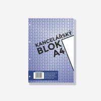 Bobo kancelářský blok A4, 50 listů, 4 díry, čistý