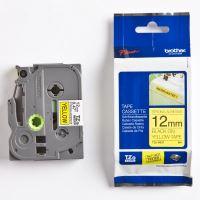 Páska Brother TZ-S631, 12mm, černý tisk/žlutý podklad, originál