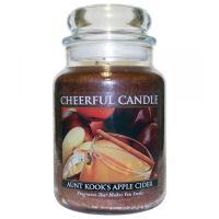 Cheerful Candle Vonná svíčka ve skle Tetin Jablečný Mošt - Aunt Kook's Apple Cider, 24oz