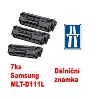 7ks kompatibilní toner Samsung MLT-D111L MP print + dálniční známka