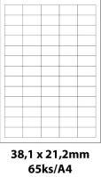 Print etikety Emy 38,1x21,2 mm, 65ks/arch, 100 archů, samolepící