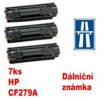 7ks kompatibilní toner HP CF279A MP print + dálniční známka