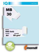 Barevný papír IQ MB 30 A4 80g modrá 1bal/500ks 2