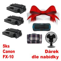 5ks kompatibilní toner Canon FX-10, MP print + dárek dle výběru