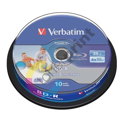 Verbatim 25GB BD-R SL, Hard Coat protective layer, spindle, 43804, 6x, 10-pack 1