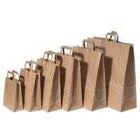 Papírová taška s plochým uchem, 320x120x410mm, hnědá